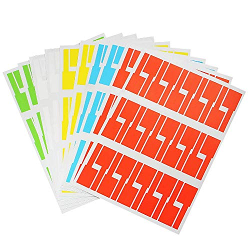 Limeo 10 Etiquetas Autoadhesivas Cables 5 Colores