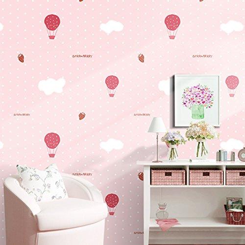 Decorativa lunares niños patrón Contacto Papel Vinilo autoadhesivo cajón estante maletero Peel y Stick–Papel pintado para dormitorio infantil (rosa, 24'wx117' L)