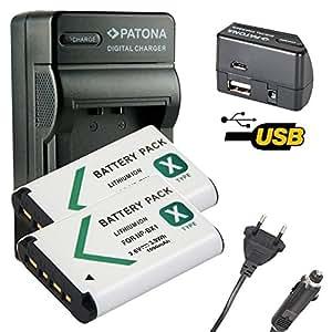 4en1 Chargeur PATONA + 2x Batterie pour Premium NP-BX1 Sony CyberShot DSC-HX50 DSC-HX50V DSC-HX300