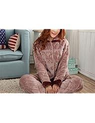 OGTOP Pijamas De Invierno Gris Robusto Calidad 100% Sexy Albornoces,Grey-XXL