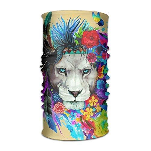 adwear Feather Lion Outdoor Scarf Headbands Bandana Mask Neck Gaiter Head Wrap Mask Sweatband ()