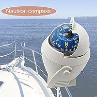 Gugutogo Posición de navegación de la brújula del Coche de Barco de Barco electrónico Militar Marino LC760 (Color: Blanco)