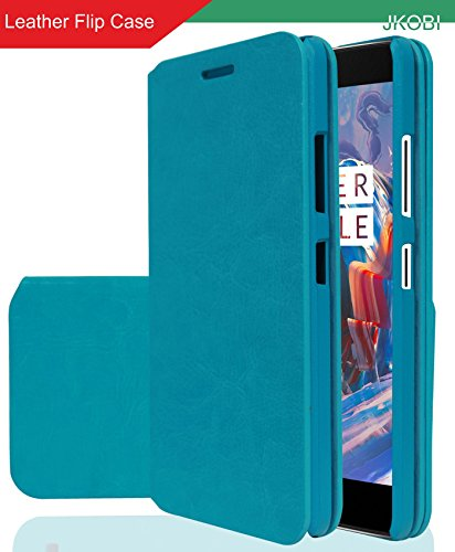 Jkobi PU Leather Magnetic Closure Wallet Flap Flip Case Cover For Oppo Neo 7 -Arctic Blue