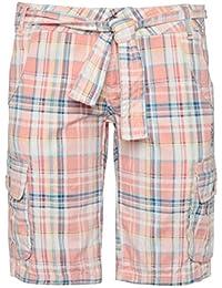 SUBLEVEL Damen Bermuda-Shorts | Karierte kurze Hose aus reiner Baumwolle