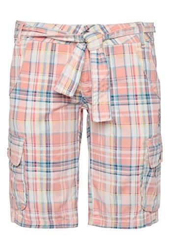 SUBLEVEL Damen Bermuda-Shorts | Karierte kurze Hose aus reiner Baumwolle orange S