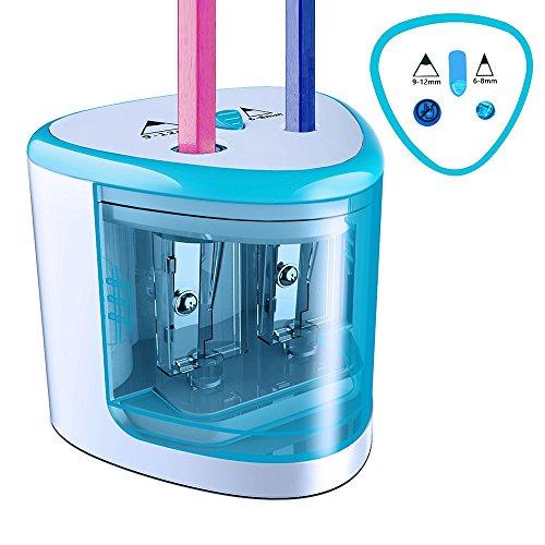 Elektrischer Bleistift-Spitzer blau (Der Elektrischer Kunst Bleistift-anspitzer)