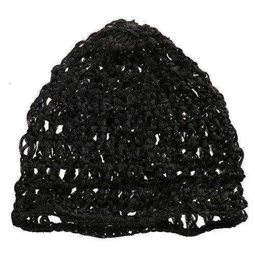 Unisexe Islamique Kufi Bonnet de Prière Cap Chapeau de Tricot Musulman Décor Femmes Hommes Noir