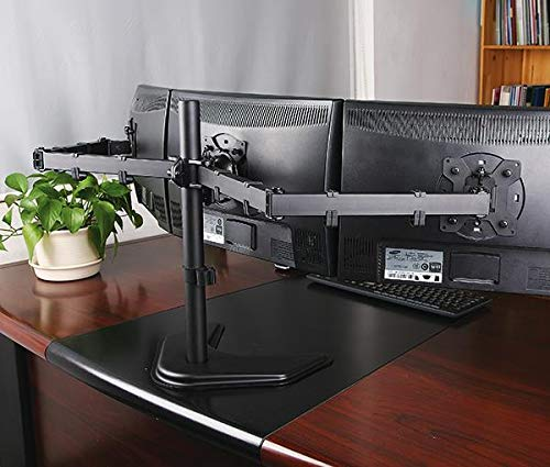 Rife Desktop Triple LCD Monitor Three LCD Arm Monitor Mount Stand Adjustable 3 Screens Fit for 10