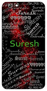 Suresh (Godof Suras (Lord Indra)) Name & Sign Printed All over customize & Personalized!! Protective back cover for your Smart Phone : MircroSoft Lumia 535