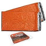 2 Premium Notfall Biwak-Sack - Survival Schlafsack, Kälteschutz Rettungsdecke, Bushcraft - Thermal-Isolierung Reißfest Polyethylen - Hohe Sichtbarkeit, Beweglich, Wetterfest| Camping Freien Wandern