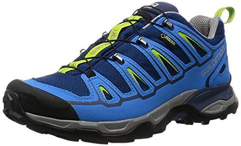 Salomon Herren X Ultra 2 Gtx Trekking-& Wanderhalbschuhe, Blau (Midnight Blue/Process Blue/Green Glow), 40 2/3 EU