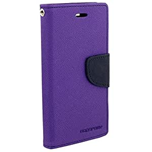 RJR Mercury Goospery Wallet Style Flip Back Case Cover For Micromax Canvas Doodle 3 A102-Purple&Blue