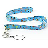 Butterflies Flowers Quality satin lanyard, neck strap ideal for mobile id keys mp3 Usb