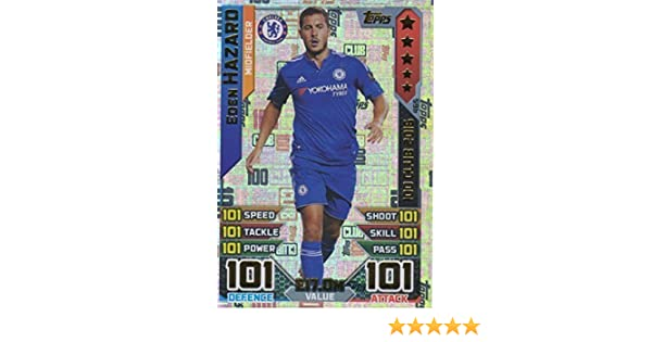 Topps Match Attax 2016 2017 Eden Hazard 15 16 Hundred 100 Club Legend 16 17 Trading Card Amazon Co Uk Toys Games