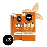 Logic Pro - Goût US Classic - 3 Packs de 3 cartouches d'e-liquide – Sans Nicotine Ni Tabac – Utilisation exclusive avec la Cigarette Electronique Logic Pro (vendue séparément)