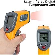 Senweit Termómetro Infrarojo Digital Láser sin Contacto Termómetro Pistola de temperature Medición LCD Pantalla para Hogar Cocina -50 to 360 °C