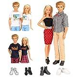 Miunana Lot 10 Kleidung = 3 Freizeitbekleidung Set + 2 Paar Schuhe für Ken + 3 Kleider Set + 2 High...