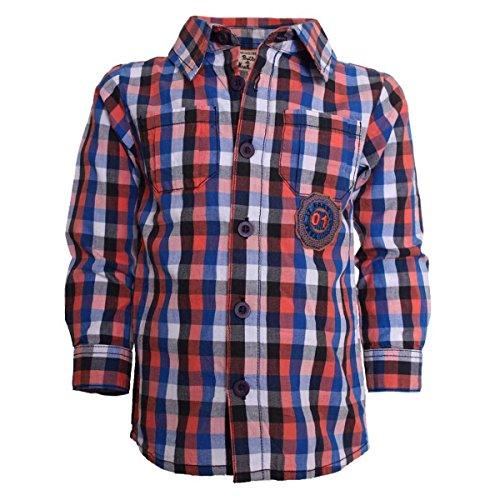 Dirkje Baby Jungen Hemd Karohemd shirt karriert langarm Kragen Größe 56 62 68 74 80 86