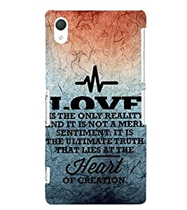 EPICCASE creation of heart Mobile Back Case Cover For Sony Xperia Z2 (Designer Case)