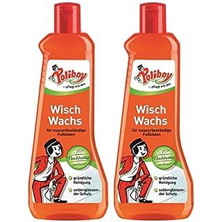 Poliboy - Boden - (2er, Wisch Wachs) für wasserfeste Fußböden - Reinigung, Pflege und Schutz - 2x500 ml