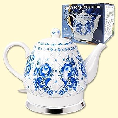 Bouilloire design porcelaine gzhel 1,7l. électrique Théière en céramique & # V30145?; & # X430?; & # x440?; & # V30145?; & # X43E?; & # x440?;