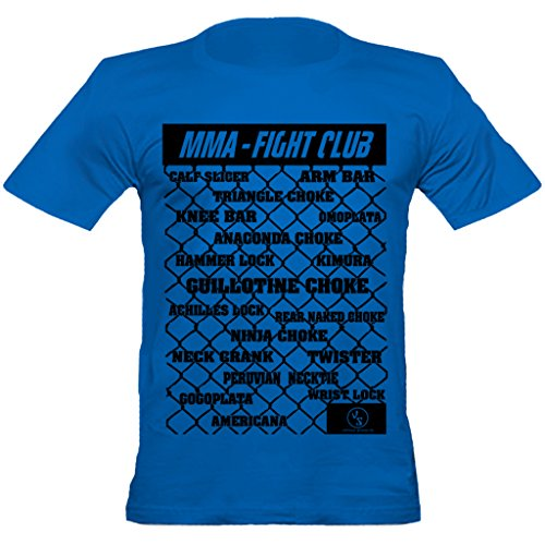 Urban Shaolin Herren Fight Club MMA Submission Holds Fitted T-Shirt, Xtra Xtra Large, (Ufc Kostüme)