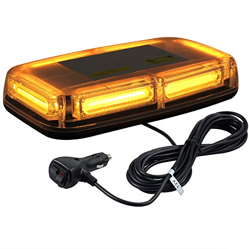 -Cob LED Magnet NOTLEUCHTE WIEDERAUFNAHME Warning Strobe Light Beacon Amber 60W ()