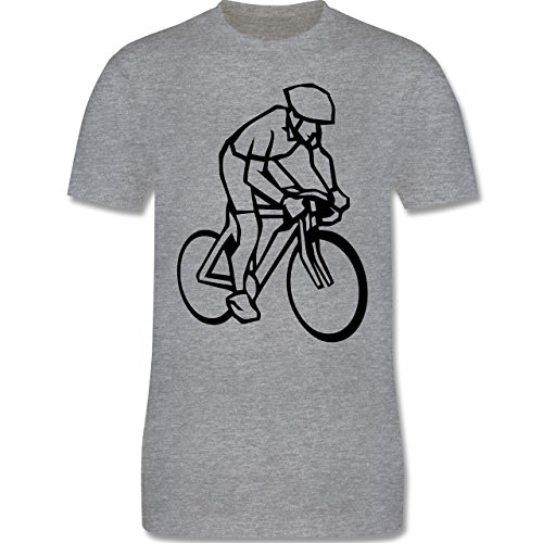 Radsport - Radsport - Herren Premium T-Shirt Grau Meliert