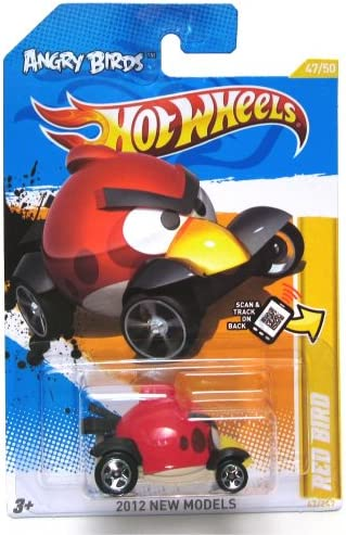 ANGRY BIRDS BIRDS BIRDS RED BIRD Hot Wheels 2012 New Models Series 47/50 Red Bird 1:64 Scale Collectible Die Cast Car by Mattel | Bonne Conception Qualité