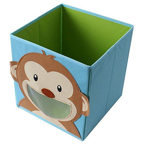faltbox kinderzimmer TE-Trend Faltbox Spielbox Tiermotiv Affe Aufbewahrung Spielzeug Spielzimmer