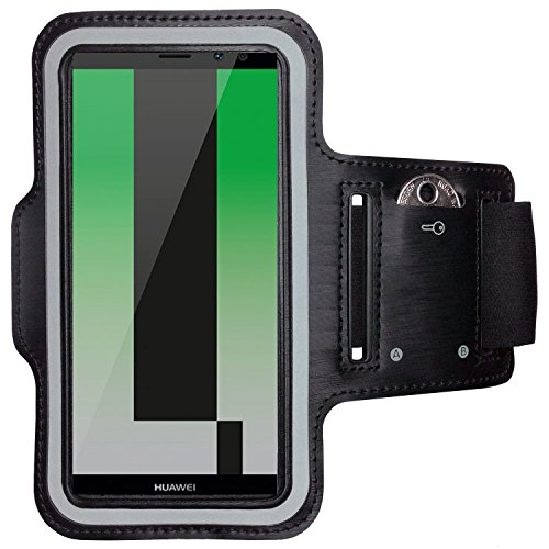 CoverKingz Huawei Mate 10 Lite Sportarmband Fitness-Hülle Schwarz Jogging-Case mit Schlüsselfach Handy-Lauf-Tasche Running-Case Handy-Tasche Sport Fitness-Armband