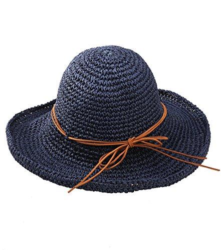 Urbancoco Damen klappbare Kappe flexible Sommer Strand Sonne Hüte (navy blau) Frauen Blauen Eimer Hüte