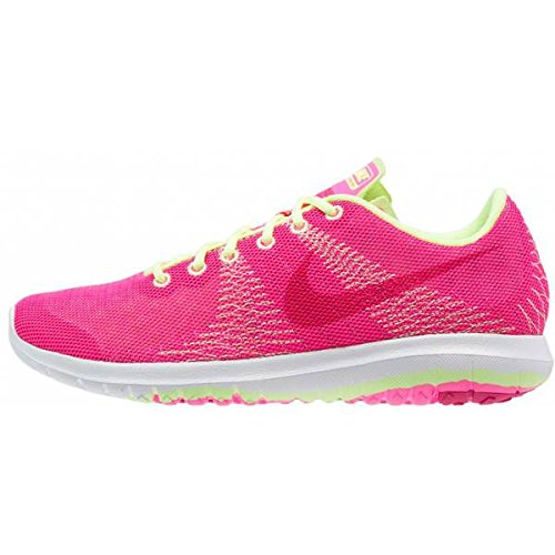 Nike girl 's Flex Element GS Schuhe, Mädchen, Flex Element GS Pink/Lime/White