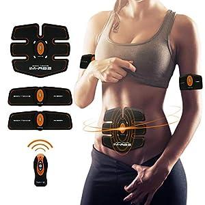 IMATE Muskelstimulation, Elektrischer Muskelstimulation EMS-Training und Fettverbrennungn Fitnesstraining Home Fitness Maschine für Herren Damen