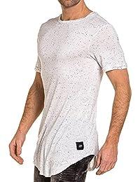 Sixth June - Tee-shirt fin oversize blanc moucheté