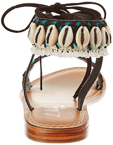 Latelier Shell Sandali I Di nero Gladiatore Di Di Donna Modo Sandali Colore Tropézien qnawYqgZp