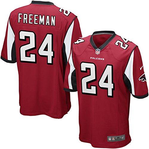 24 Devonta Freeman Trikot Atlanta Falcons Jersey American Football Trikot Mens Red Size L(44)