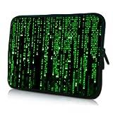 PEDEA Design Schutzhülle Notebook Tasche bis 17,3 Zoll (43,9cm), Matrix