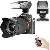 Neewer® NW320 TTL LCD Pantalla LED-Asistencial Previsto Foco Flash Speedlite Kit para Sony A7 / A7R / A7S / A7 II / A6000 / NEX6, incluye (1) NW320 Flash para Sony + (1)Disparo inalámbrico del obturador por infrarrojos