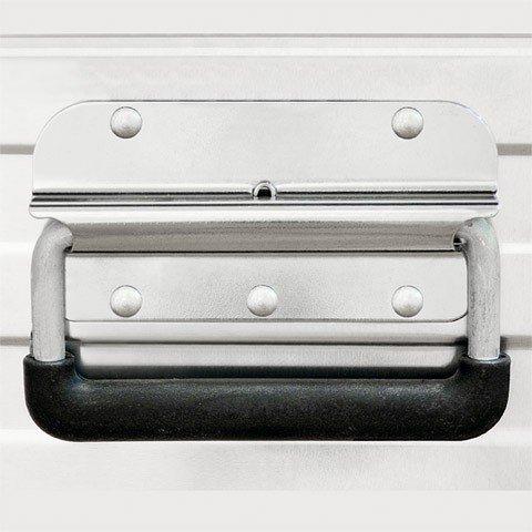 Enders Aluboxen Set 29 und 63 Liter + Schloss Set, hochwertig verarbeitet, mit Moosgummidichtung, Alukiste flexibel verwendbar als Transportbox und Lagerbox - Alukoffer Lagerkisten Metallkiste Metallbox Alubox Alukisten - 5