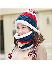 YN Sombrero de Lana Mujer de Invierno Versión Coreana de The Thick Knit Hat  Chica Linda 03e85c05c45