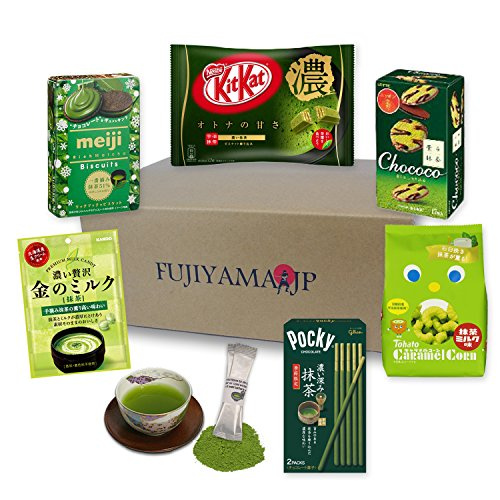 Japanese Matcha Green Tea Sweets and Snacks assortment gifts 7 pcs - Candy Kit