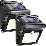 28 LEDs Outdoor Solarleuchten, Bewegungssensor Kabellos Wasserdicht Sicherheitslicht, Solarleuchten für Garten, Terrasse, Hof, Auffahrt, Garage, Wege von Luposwiten-2PACK