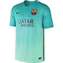 Nike Fcb M Nk Dry Stad Jsy Ss 3R Camiseta Línea F.C. Barcelona, Hombre, Verde (Green Glow / Energy / Green Glow / Black), S