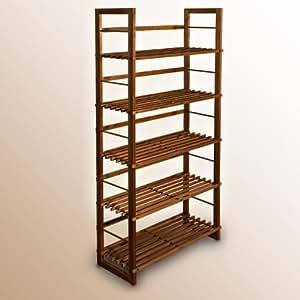 Meuble tag re biblioth que couleur chocolat land 135 cm for Etagere interieur meuble cuisine