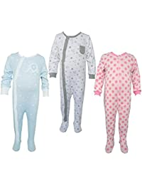 Teddy's Choice 100% Cotton Multi color 3 Combo Kid's Romper for 0-3 Months :Modle-012