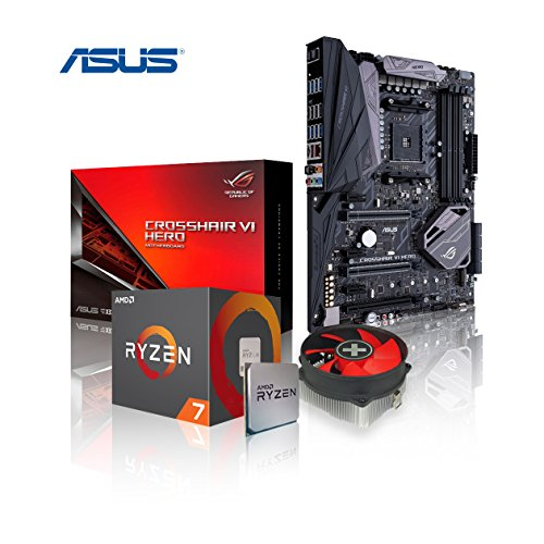 Preisvergleich Produktbild Memory PC Aufrüst-Kit AMD Ryzen 7 1800X AM4 (OctaCore) Summit Ridge 8x 4.0 GHz,  0 GB DDR4 2133Mhz,  ASUS ROG Crosshair VI Hero AMD X370,  AURA Sync RGB LED´s,  USB 3.1,  USB 3.1 Typ-A / C,  SATA3,  7.1 Sound,  M.2 Sockel,  GigabitLan,  GamingKIT,  komplett fertig montiert und getestet.
