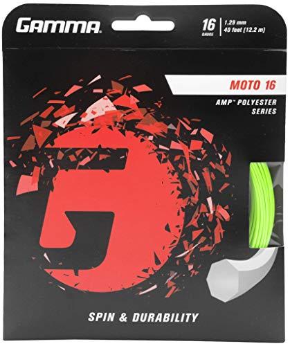 Gamma Tennissaite Moto 12,2 m Set 16 (1,29mm) lime, GZMO10