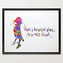 dignovel Studios Dobby cita de Harry Potter acuarela ilustración art print amistad citas Nursery Decor Kids Art Print boda cumpleaños regalo n078-unframed