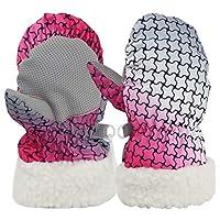 Gogokids Baby Ski Gloves Winter Thermal Snowboarding Mittens Waterproof Windproof Skiing Cycling Hiking, 1-2 Years